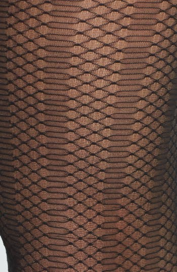 Alternate Image 2  - Nordstrom Diamond Sheer Tights