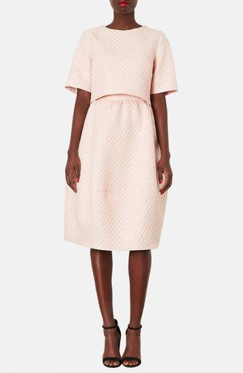 Alternate Image 5  - Topshop Bubble Jacquard Midi Skirt