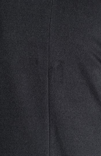 Alternate Image 3  - Cinzia Rocca Knit Cuff Wool Car Coat (Plus Size)