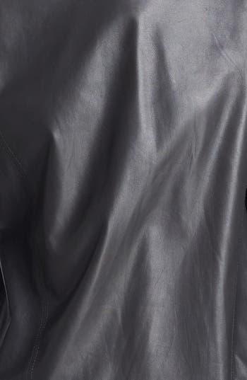 Alternate Image 4  - Helmut Lang Knit Sleeve Leather Top