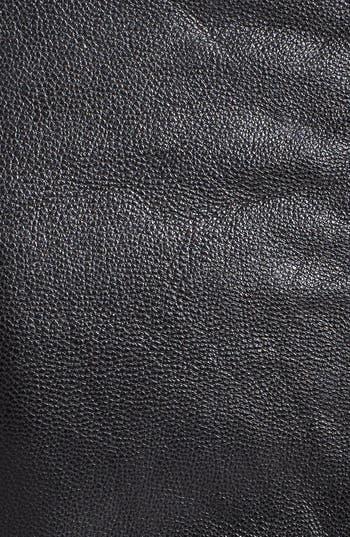 Alternate Image 3  - June Drape Front Leather Jacket