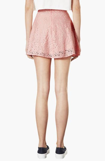 Alternate Image 2  - Topshop High Waist Lace Skater Skirt