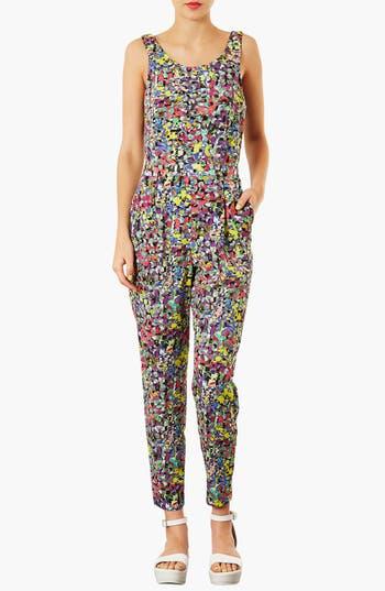 Alternate Image 1 Selected - Topshop 'Pop' Floral Jumpsuit