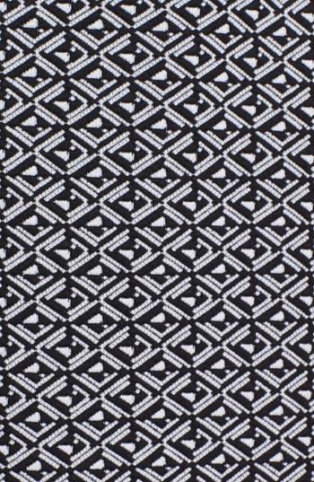 Alternate Image 3  - Cynthia Steffe Faux Leather Trim Jacquard Sheath Dress (Online Only)