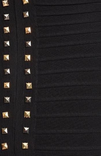 Alternate Image 3  - Herve Leger Gold Studded Dress
