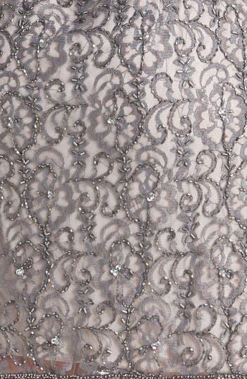 Alternate Image 3  - Pisarro Nights Beaded Lace Sheath Dress (Petite)