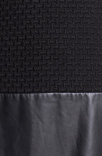 Alternate Image 3  - Rachel Zoe 'Dallas' Leather & Wool Blend Dress
