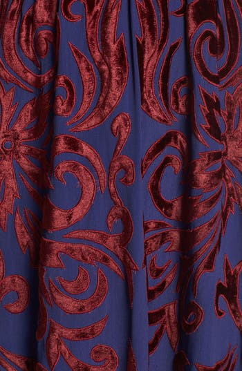 Alternate Image 3  - Free People 'Hedge Maze' Velvet Appliqué Maxi Dress