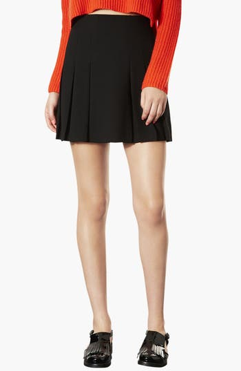 Main Image - Topshop Pleated Miniskirt
