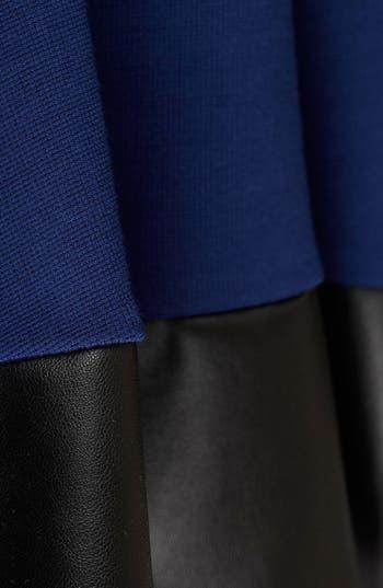 Alternate Image 5  - Topshop Contrast Hem Skater Skirt