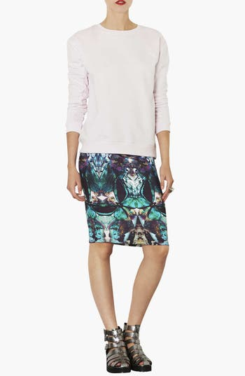 Alternate Image 3  - Topshop Moth Print Tube Skirt