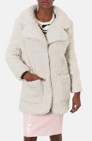 Main Image - Topshop Fleece Coat