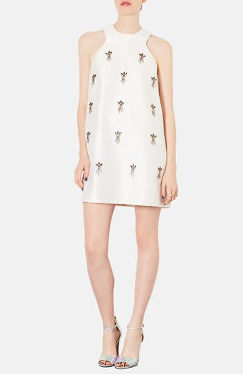 Main Image - Topshop Embellished A-Line Dress