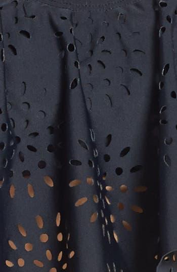 Alternate Image 4  - BP. Undercover Laser Cut Ruffle Bikini Top (Juniors)