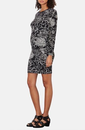Main Image - Topshop 'Pen Garden' Body-Con Maternity Dress