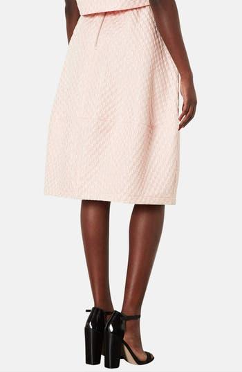 Alternate Image 2  - Topshop Bubble Jacquard Midi Skirt