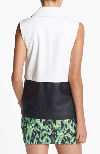 Alternate Image 2  - ASTR Colorblock Faux Leather Vest