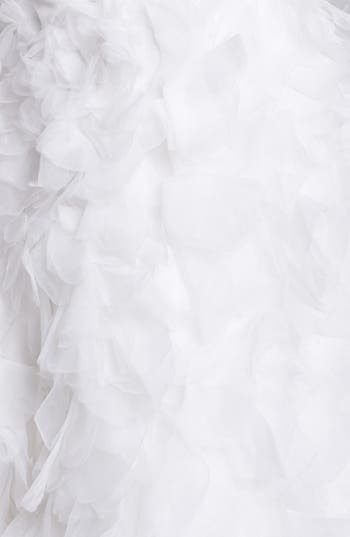 Alternate Image 3  - BLISS Monique Lhuillier Ruffled Organza Mermaid Dress (In Stores Only)