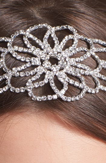 Alternate Image 2  - Cara 'Vintage Crystal Flower' Head Wrap