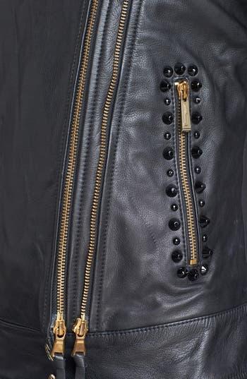 Alternate Image 5  - Just Cavalli Leather Moto Jacket