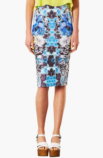 Alternate Image 1 Selected - Topshop Graphic Print Tube Skirt