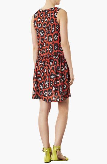 Alternate Image 2  - Topshop Leopard Print Skater Dress
