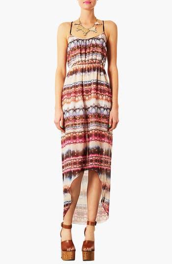Main Image - Topshop Tie Dye High/Low Dress
