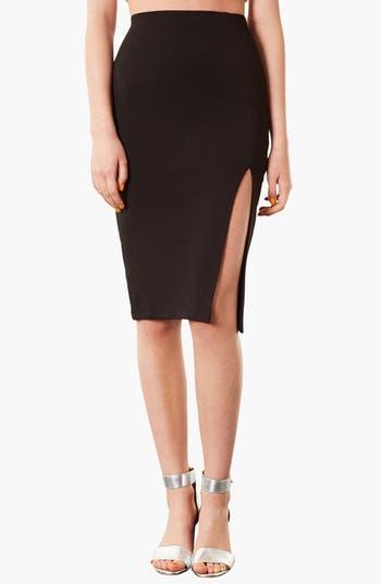 Main Image - Topshop Textured Pencil Skirt