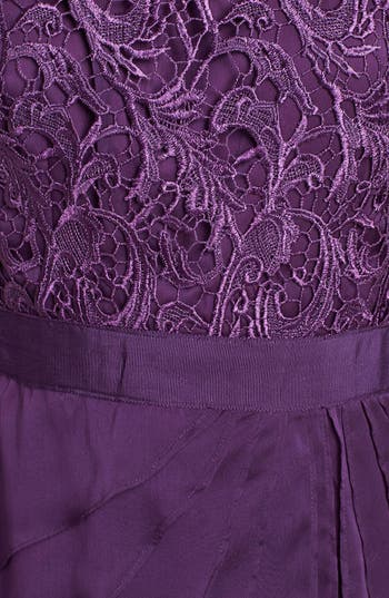 Alternate Image 3  - Adrianna Papell Lace & Tiered Chiffon Dress (Regular & Petite)