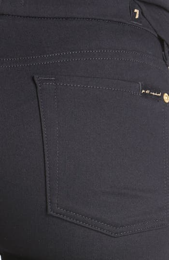 Alternate Image 3  - 7 For All Mankind® 'Malhia Kent - The Pieced Skinny' Jacquard Jeans (Egyptian Gold Tweed)