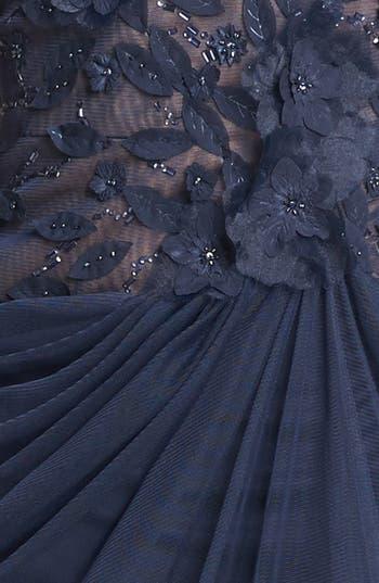 Alternate Image 3  - Tadashi Shoji Embellished V-Neck Tulle Gown