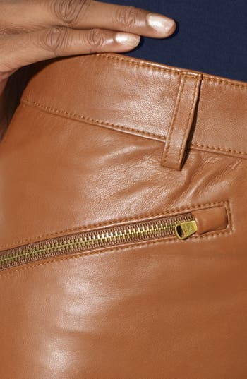 Alternate Image 3  - Lauren Ralph Lauren Leather Pencil Skirt