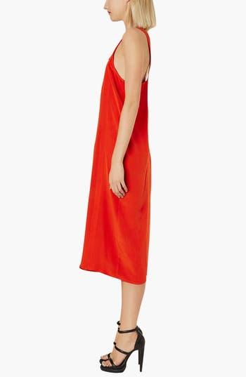 Alternate Image 3  - Topshop Boutique Boxy Silk Slip Dress