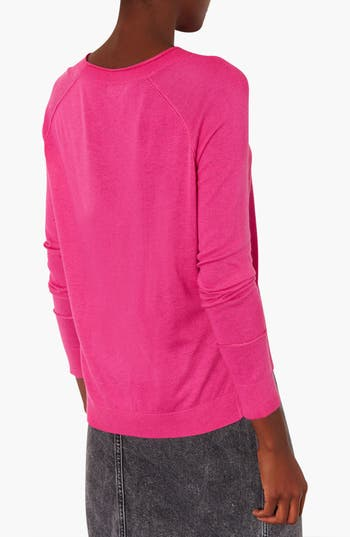 Alternate Image 2  - Topshop Raglan Sleeve Knit Sweater