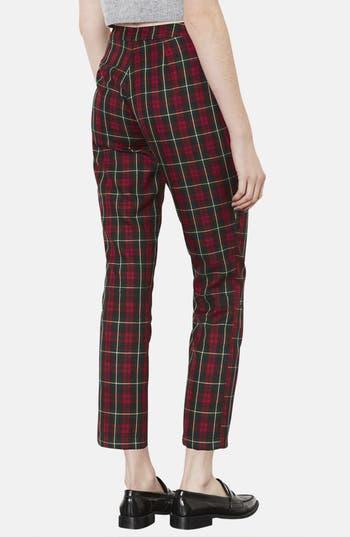Alternate Image 2  - Topshop Plaid Crop Trousers