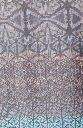 Alternate Image 3  - Lush Scoop Back Print Woven Tee (Juniors)
