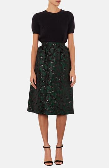 Alternate Image 4  - Topshop Poppy Jacquard Midi Skirt