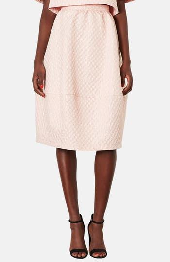 Main Image - Topshop Bubble Jacquard Midi Skirt