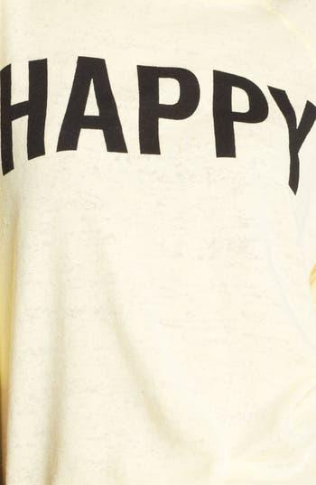 Alternate Image 3  - Wildfox 'Life Is Good' Boatneck Sweatshirt