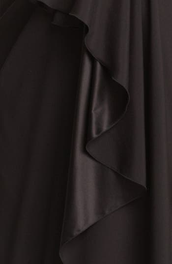 Alternate Image 3  - Armani Collezioni Strapless Velvet & Chiffon Dress