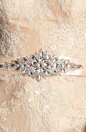 Alternate Image 3  - La Femme Embellished Sleeveless Lace Gown