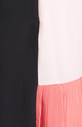 Alternate Image 3  - Ted Baker London Colorblock Pleated Crepe Shift Dress