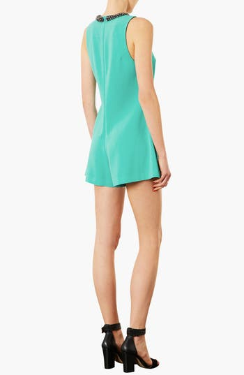 Alternate Image 2  - Topshop Embellished Neck Romper