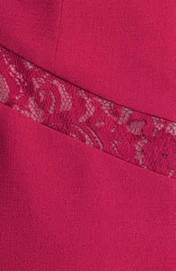 Alternate Image 3  - Max & Cleo Lace Inset Crepe Sheath Dress