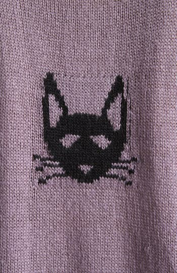 Alternate Image 3  - Love By Design 'Kitty' Pattern Sweater (Juniors)