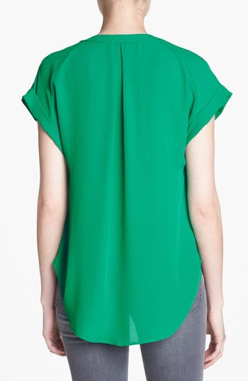 Alternate Image 2  - ASTR Cap Sleeve Shirred Blouse