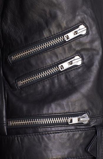 Alternate Image 7  - The Kooples Leather Biker Jacket with Genuine Fur Collar