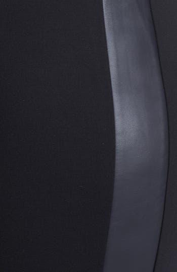 Alternate Image 3  - Sejour Faux Leather & Ponte Knit Pants (Plus Size)