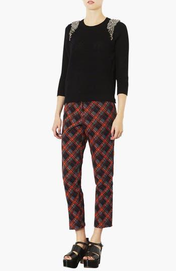 Alternate Image 3  - Topshop Embellished Shoulder Open Knit Sweater
