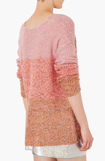 Alternate Image 2  - Topshop 'Lulu' Ombré Marled Sweater